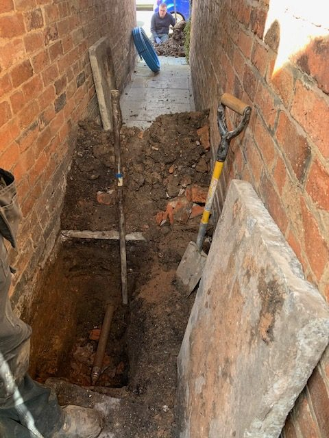 Water pipe installation